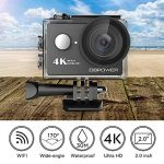 4K Action Cam, DBPOWER Sport Action Camera Waterproof 12MP 170 ° Wide Angle 2.0 Inch LCD Screen with 2pcs Batteries and Accessories kits de la marque DBPOWER image 1 produit