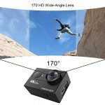 4K Action Cam, DBPOWER Sport Action Camera Waterproof 12MP 170 ° Wide Angle 2.0 Inch LCD Screen with 2pcs Batteries and Accessories kits de la marque DBPOWER image 4 produit