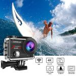 Campark ACT74 Action Cam 4K 16MP Wi-Fi Action Camera Impermeabile 30M con 2 Batterie Custodia Impermeabile e Kit di Accessori Compatibile con Gopro de la marque Campark image 1 produit