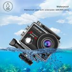 Campark ACT74 Action Cam 4K 16MP Wi-Fi Action Camera Impermeabile 30M con 2 Batterie Custodia Impermeabile e Kit di Accessori Compatibile con Gopro de la marque Campark image 4 produit