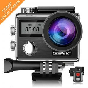 Campark Action Cam X20 HD 20MP 4K WIFI Action Camera Touch Screen Macchina Fotografica Subacquea 30M con Custodia Impermeabile, Doppio Schermo LCD, Remote Control, EIS e Kit Accessori de la marque Campark image 0 produit