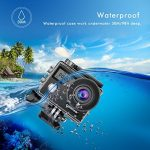 Campark Action Cam X20 HD 20MP 4K WIFI Action Camera Touch Screen Macchina Fotografica Subacquea 30M con Custodia Impermeabile, Doppio Schermo LCD, Remote Control, EIS e Kit Accessori de la marque Campark image 1 produit