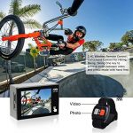 Campark Action Cam X20 HD 20MP 4K WIFI Action Camera Touch Screen Macchina Fotografica Subacquea 30M con Custodia Impermeabile, Doppio Schermo LCD, Remote Control, EIS e Kit Accessori de la marque Campark image 2 produit
