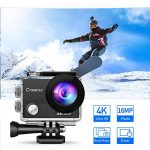 Crosstour 4K 16MP Action Cam WIFI Subacquea Ultra HD Sport Action Camera 170° Grandangolare Telecomando Due 1050mAh Batterie Custodia Impermeabile e 20 Kit di Accessori de la marque Crosstour image 1 produit