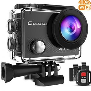 Crosstour 4K 16MP Action Cam WIFI Subacquea Ultra HD Sport Action Camera 170° Grandangolare Telecomando Due 1050mAh Batterie Custodia Impermeabile e 20 Kit di Accessori de la marque Crosstour image 0 produit