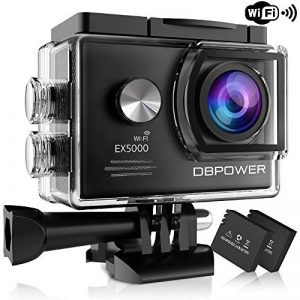 DBPOWER® EX5000 Originale Versione WIFI 14MP FHD Sport Action Camera Impermeabile con 2 batterie e kit accessory inclusi (Nero) de la marque db DBPOWER image 0 produit