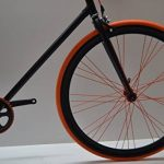 Fixed 28 Nero Arancio Fixie Scatto Fisso Single Speed contropedale Personalizzabile de la marque Cicli Ferrareis image 3 produit