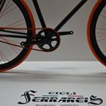 Fixed 28 Nero Arancio Fixie Scatto Fisso Single Speed contropedale Personalizzabile de la marque Cicli Ferrareis image 4 produit