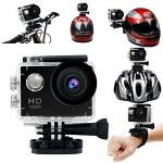 Yuntab fotocamera sport d'azione Action Sport Camera Full HD 1080P outdoor videocamera impermeabile LCD Waterproof Video Helmetcam con biking, swimming, diving + battery + charger A9 NERO de la marque Yuntab image 4 produit